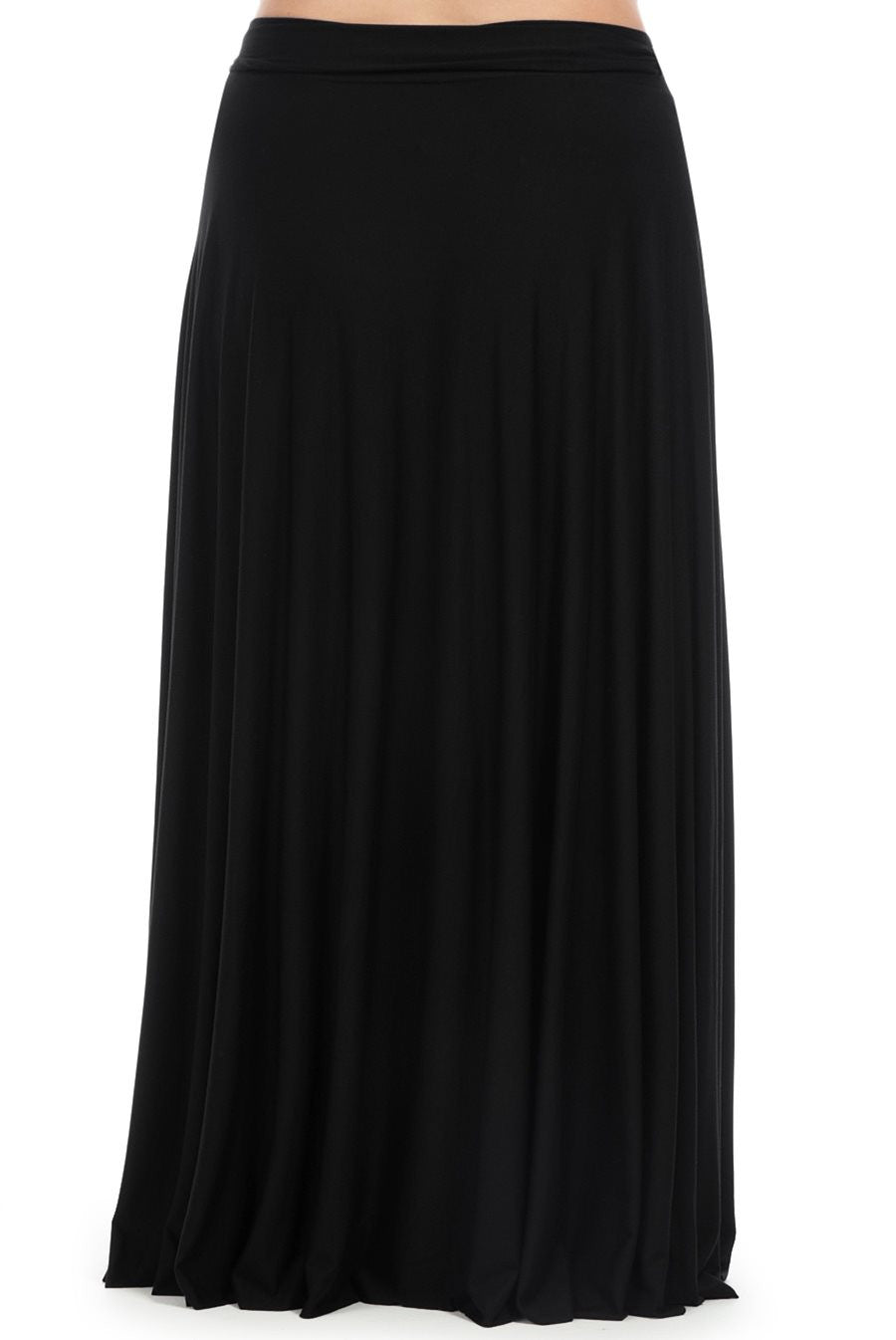 LONG WRAP SKIRT WL - BLACK