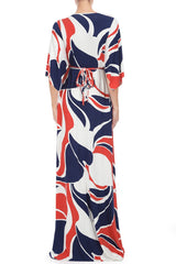 LONG CAFTAN DRESS PRINT - MOD