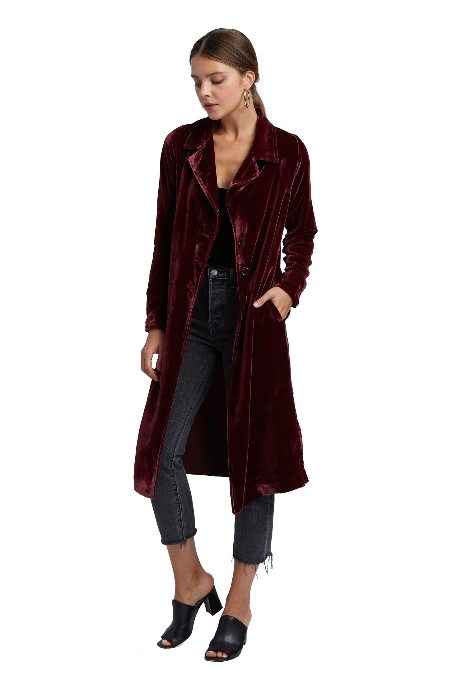 Velvet Coat - Bordeaux Velvet