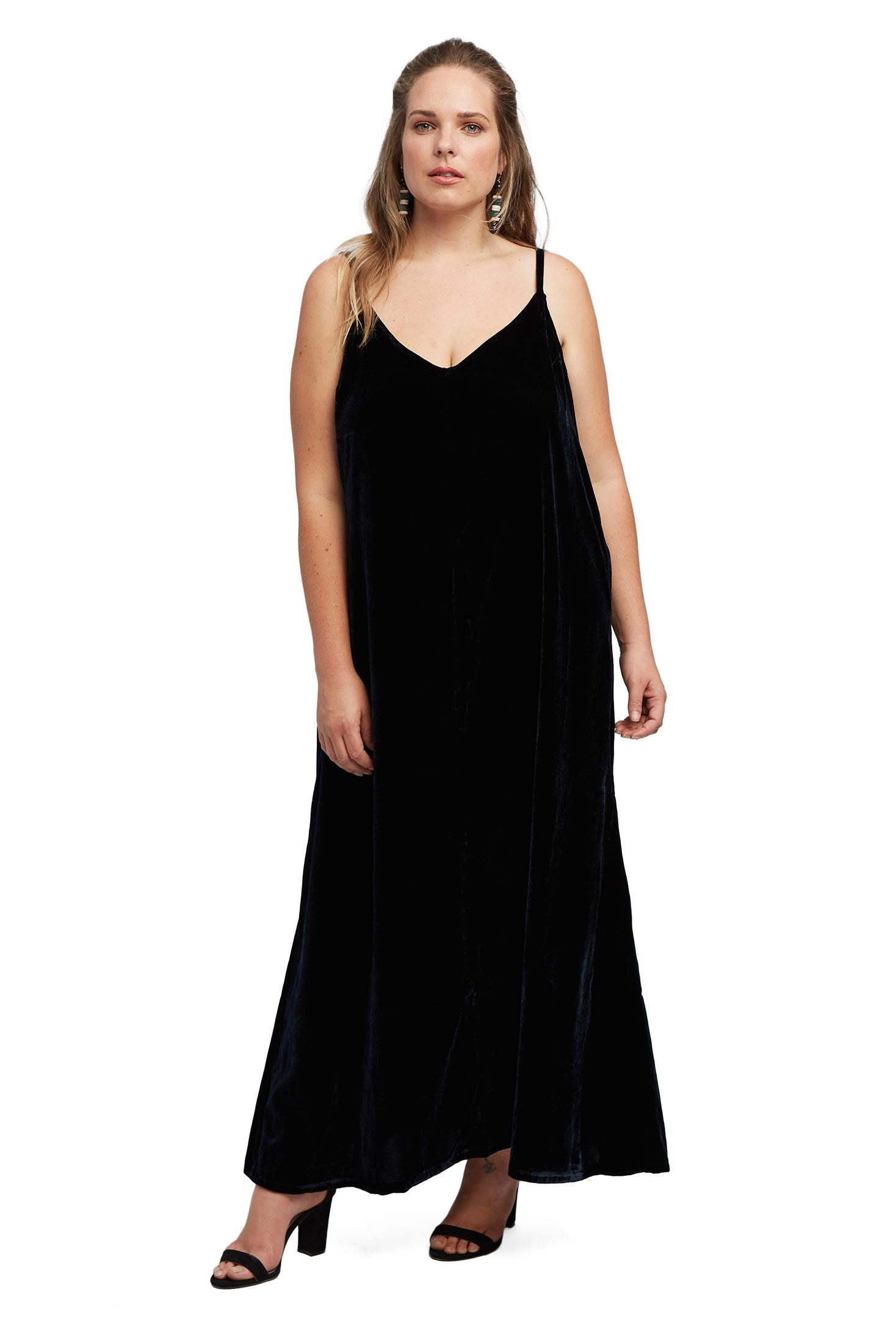 Velvet Slip Dress - Night Velvet, Plus Size
