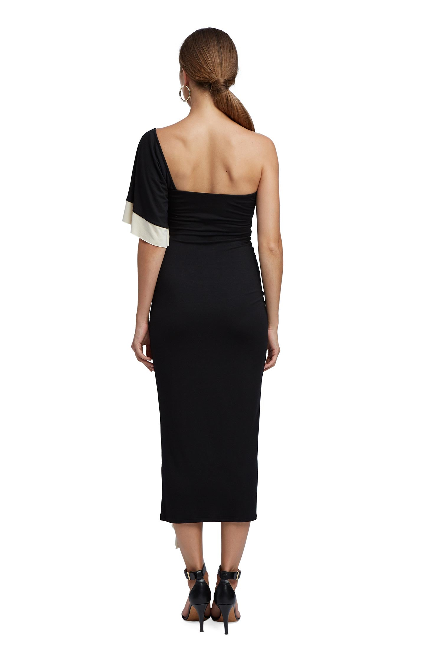 Veronica Dress - Black / Cream Colorblock
