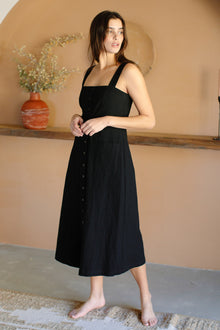 Winter Linen Canvas Mela Dress