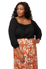 Walsh Top - Black, Plus Size