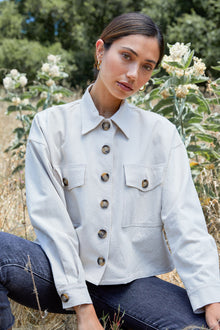 Linen Canvas Francis Shirt Jacket