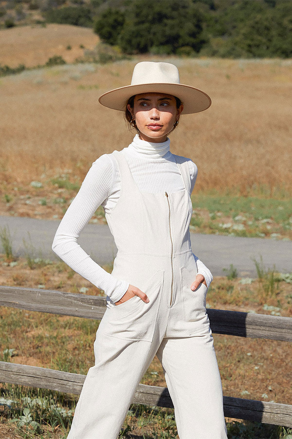 Linen Canvas Kai Jumpsuit - Ecru