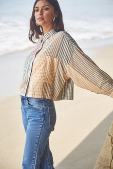 Willa Top - Ombre Check Voile