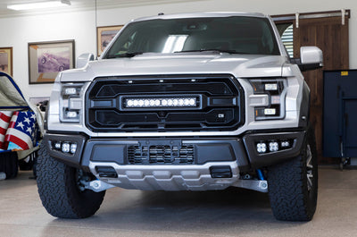 CALIBER 9 Grille Kit for the Ford Raptor now available with Baja Designs Laser Light Technology!