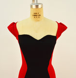Two of Heartz Red and Black Color Block Dress