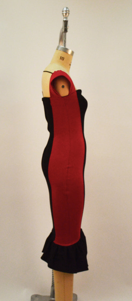 Two of Heartz Red and Black Color Block Dress - Plus Fashion Up to Size 32