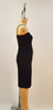 Dora Stretch Black Taffeta Pencil Skirt Dress - Plus Fashion Up to Size 32
