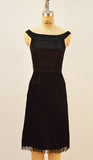 Gatsby Stretch Charmuse Black Fringe Dress - Plus Fashion Up to Size 32
