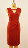 Jazz Star Red and Gold Stretch Lurex Dress - Plus Fashion Up to Size 32