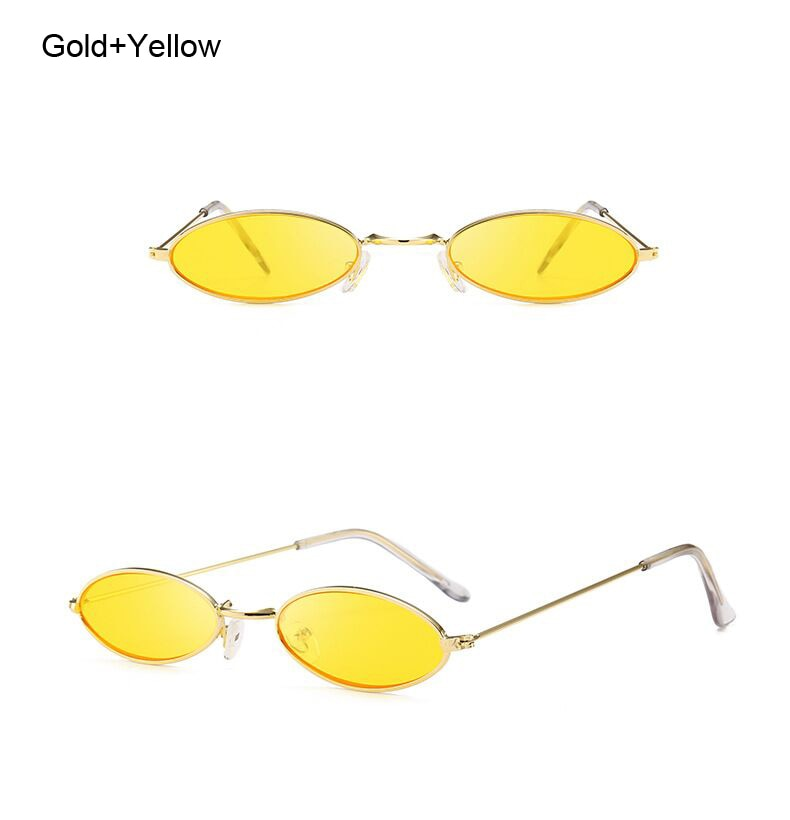 Small 90's Inspired Oval Sunglasses