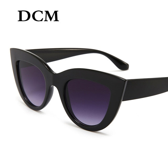 Retro Thick Cateye Sunglasses