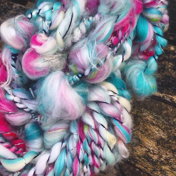 Hand Spun Art Yarn Sea Urchin