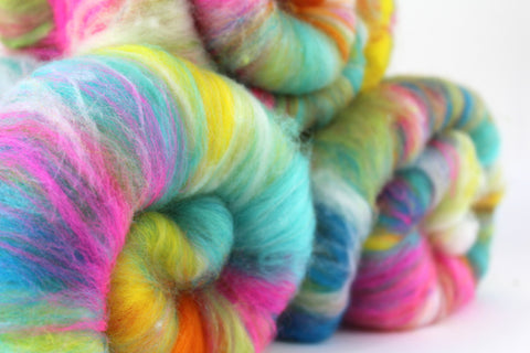E Numbers Spinning batt by SpinCityUK Colourful spinning fiber
