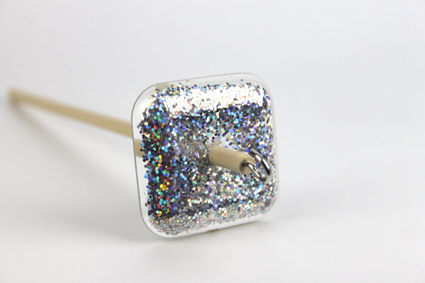 Disco Glitter Square Drop Spindle #347