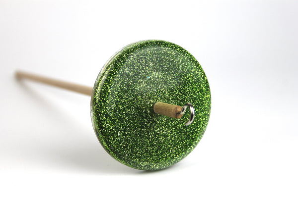 Green Glitter Drop Spindle #398