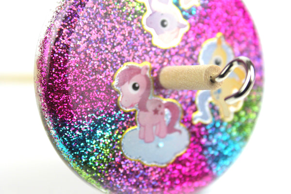 Glitter Pony Drop Spindle #400