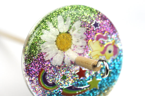 Cute Drop Spindle with Glitter #406