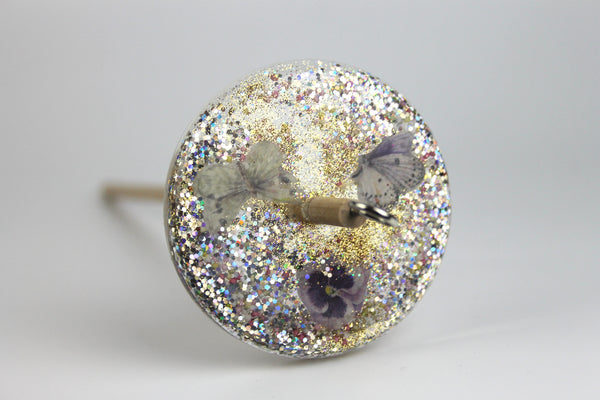 Butterfly Drop Spindle with Glitter #408