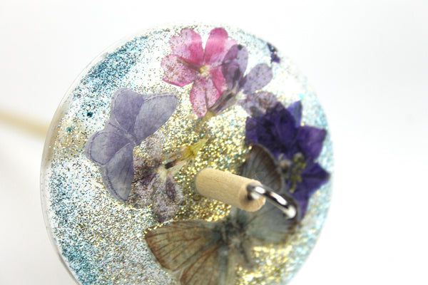 Butterfly Drop Spindle with Glitter #412