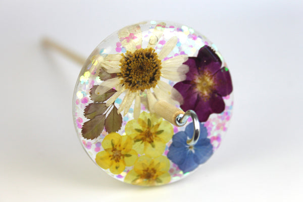 Daisy Glitter Drop Spindle #509