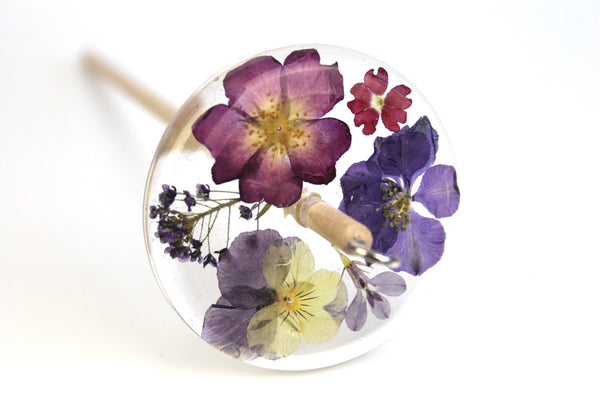Floral Drop Spindle #474