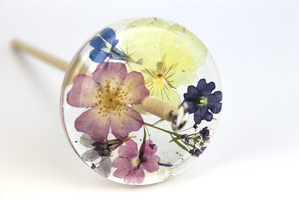 Floral Drop Spindle #451