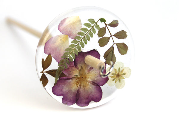 Floral Drop Spindle #495