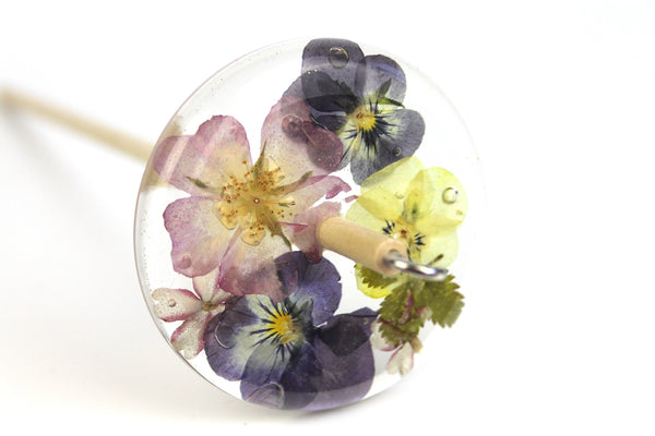 Floral Drop Spindle #463