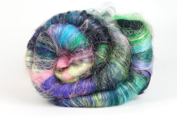 Northern Lights -  Hand Carded Batt For Spinning Or Felting