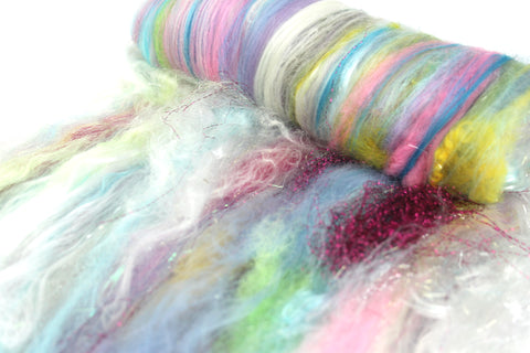 Marie Antoinette -  Hand Carded Batt For Spinning Or Felting