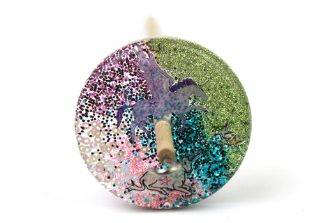 Unicorn Rainbow Drop Spindle