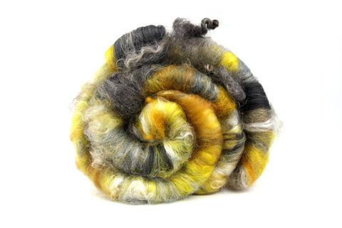 Lichen  - Hand Carded Batt For Spinning Or Felting