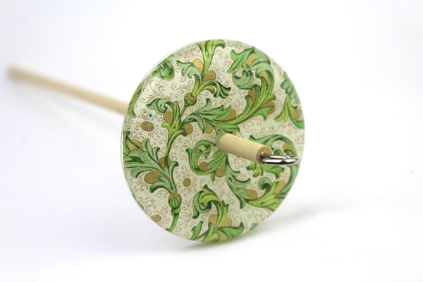Green Patterned Top Whorl Spindle