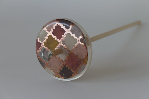 Patterned Drop Spindle #534