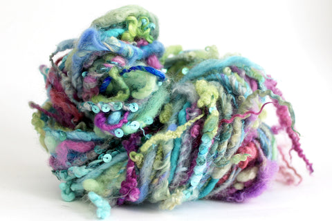 mermaid handspun art yarn