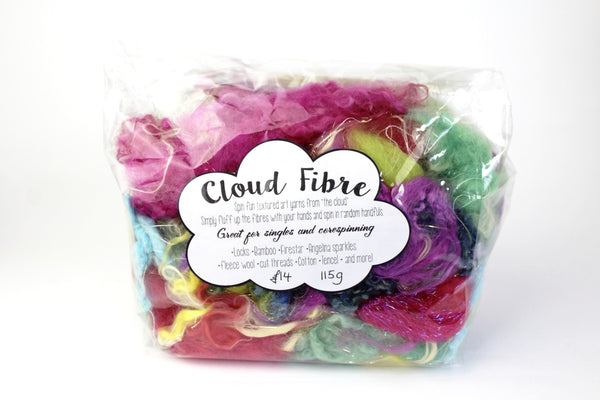 Cloud Fibre  -  Spin textured art yarns from the Cloud