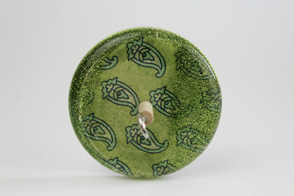 Patterned Paisley Drop Spindle