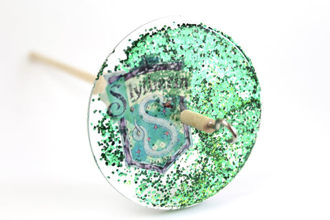 Sorting Hat Spindle - Slytherin Inspired Drop Spindle #122