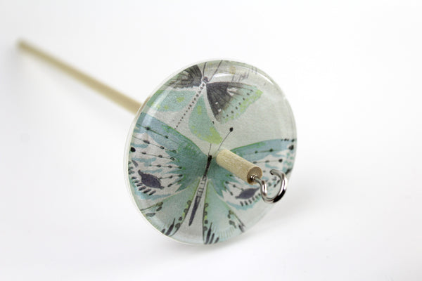 Drop Spindle With Butterfly Design
