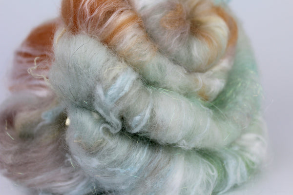 Dawn  - Hand Carded Batt For Spinning or Felting