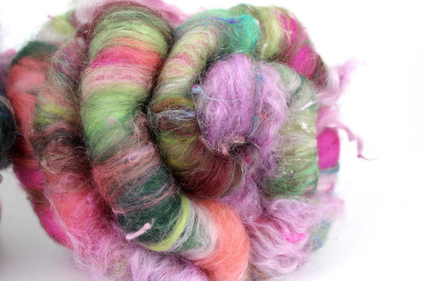 How Does Your Garden Grow - Hand Carded Batt For Spinning or Felting