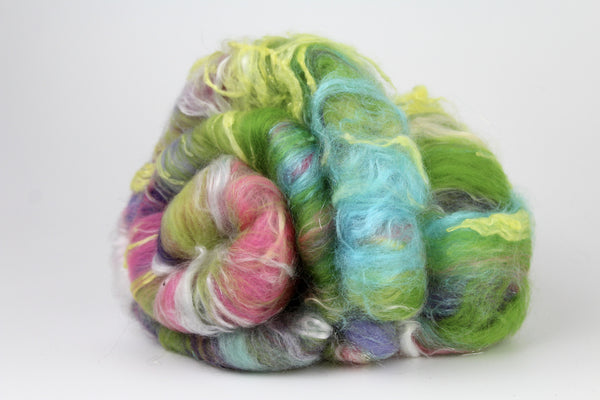 Snapdragon  - Hand Carded Batt For Spinning or Felting