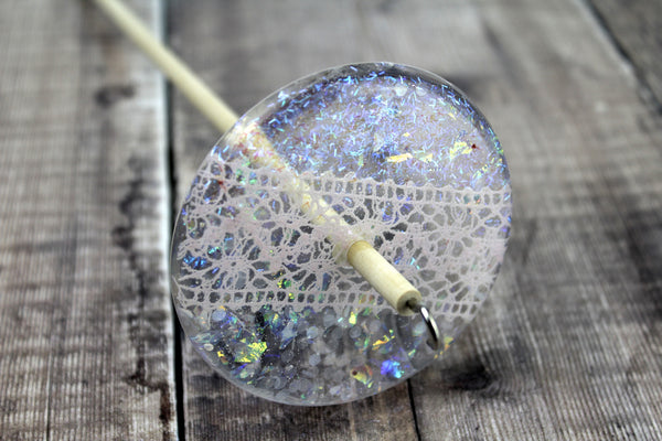 Lace and Glitter Drop Spindle 0002