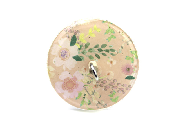 Patterned Floral Drop Spindle 0003