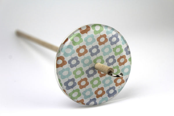 Geometric Patterned Drop Spindle