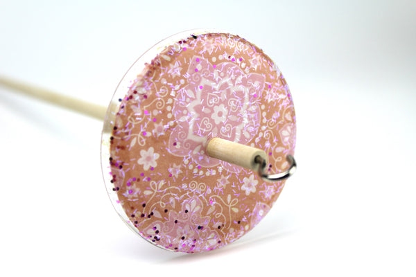 Paisley Patterned Glitter Drop Spindle