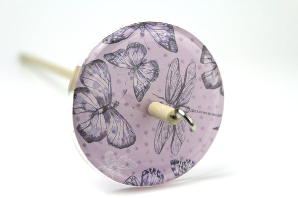 Butterfly and Dragonfly Drop Spindle